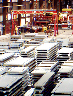steel sheets for shipment to manufacturers